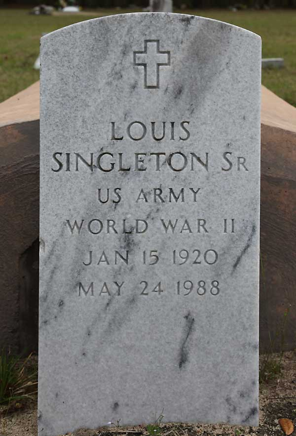 LOUIS SINGLETON Gravestone Photo