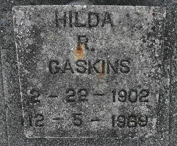 HILDA R. GASKINS Gravestone Photo