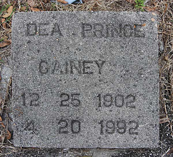 Prince Gainey Gravestone Photo