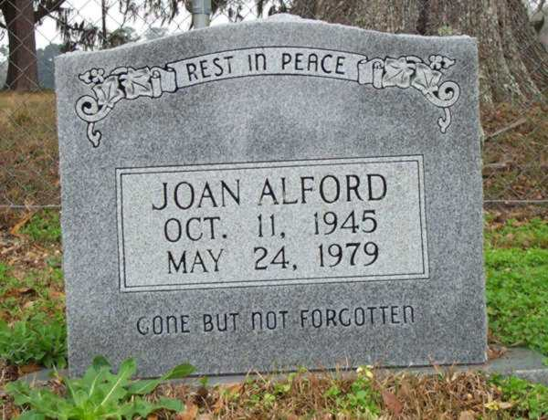 Joan Alford Gravestone Photo