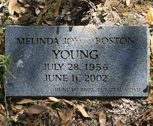 Melinda Joyce Boston Young Gravestone Photo