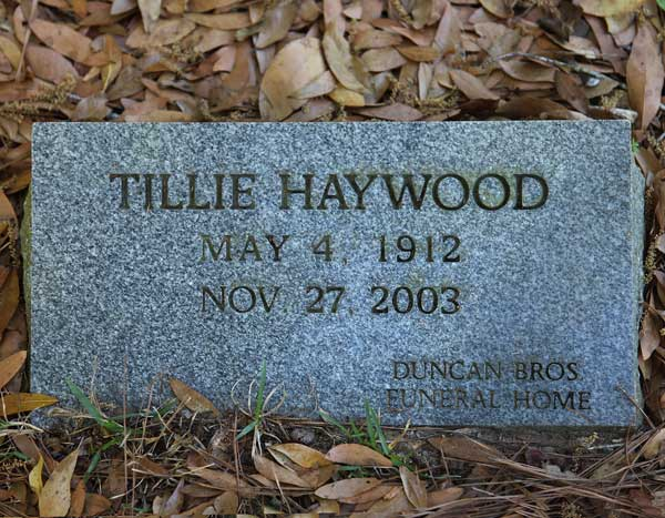 Tillie Haywood Gravestone Photo