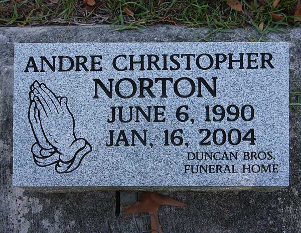 Andre Christopher Norton Gravestone Photo