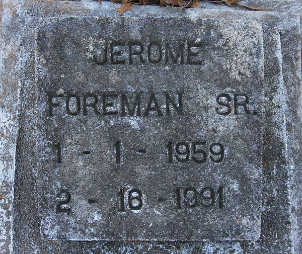 Jerome Foreman Gravestone Photo