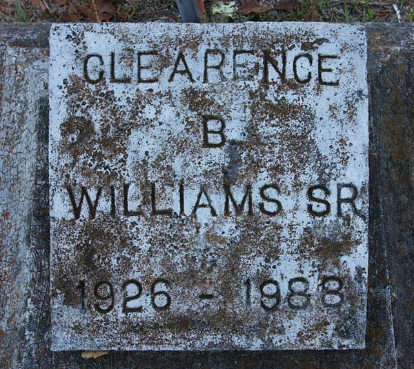 Clearence B. Williams Gravestone Photo