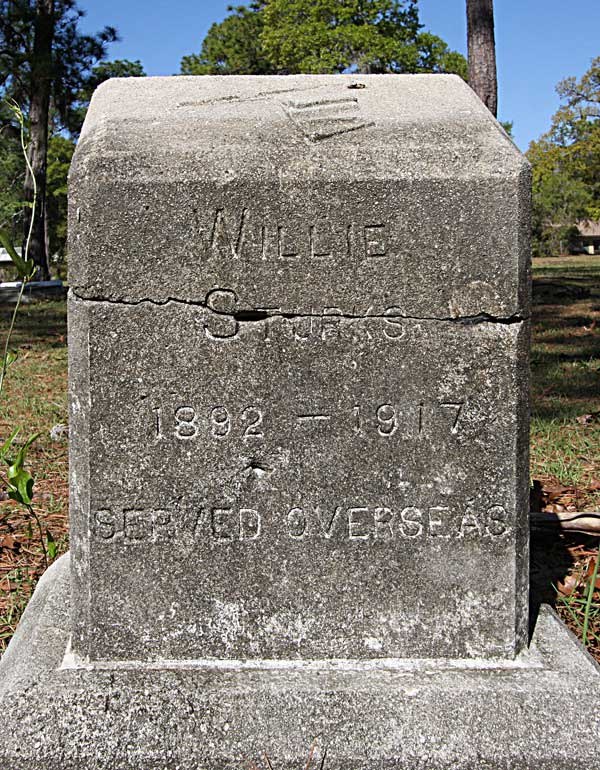 Willie Sturks Gravestone Photo
