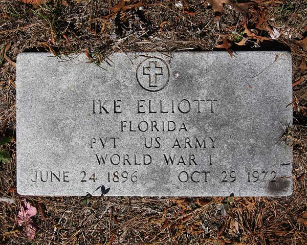 Ike Elliott Gravestone Photo