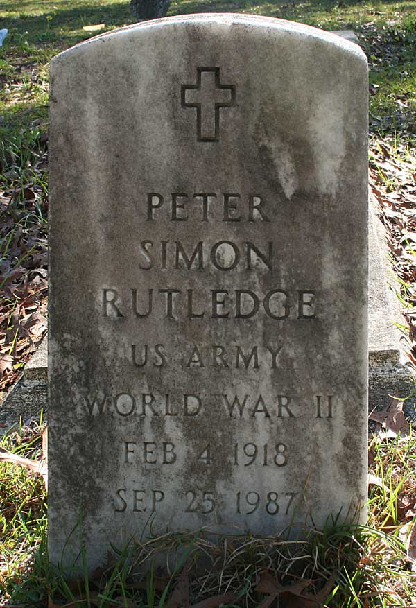 Peter Simon Rutledge Gravestone Photo
