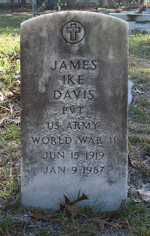 James Ike Davis Gravestone Photo