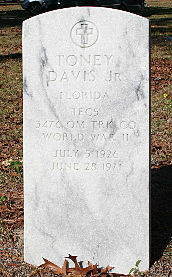 Toney Davis Gravestone Photo