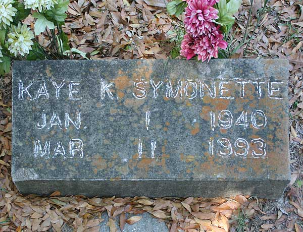 Kaye K. Symonette Gravestone Photo