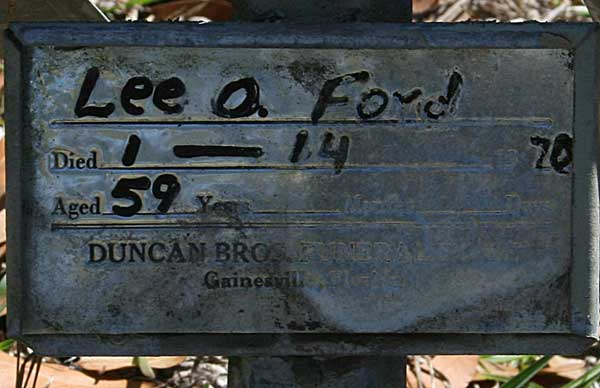 Lee O. Ford Gravestone Photo