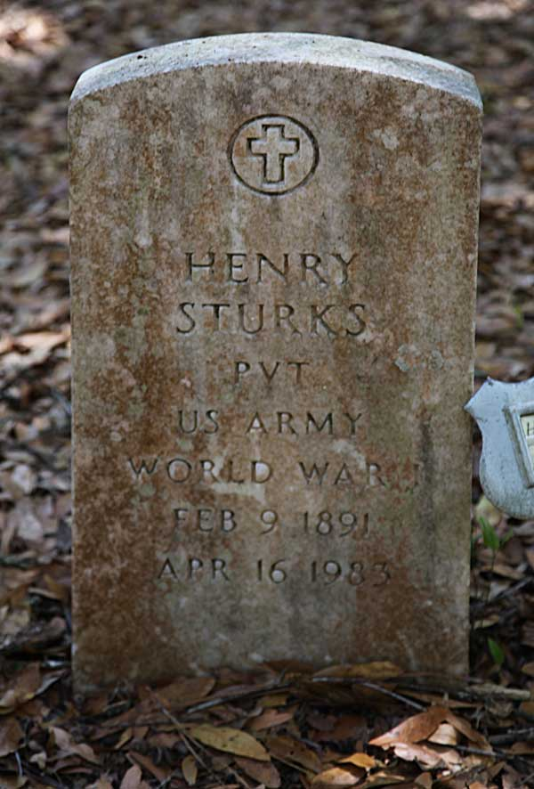 Henry Sturkes Gravestone Photo