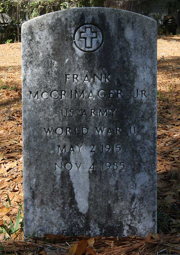 Frank McGrimager Gravestone Photo