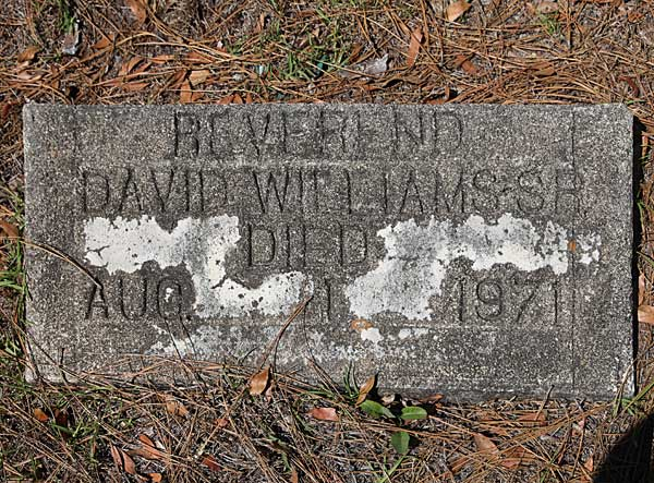 Reverend David Williams Gravestone Photo