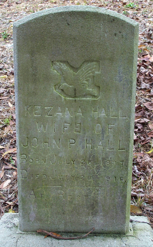 Kezana Hall Gravestone Photo