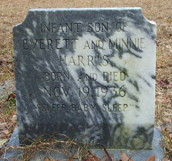 (Infant Son) Harris Gravestone Photo