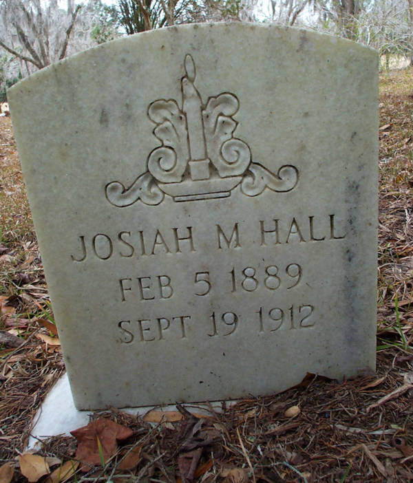 Josiah M. Hall Gravestone Photo