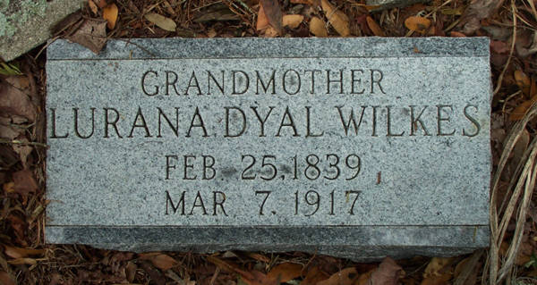 Lurana Dyal Wilkes Gravestone Photo