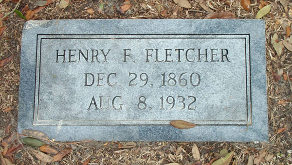 Henry F. Fletcher Gravestone Photo