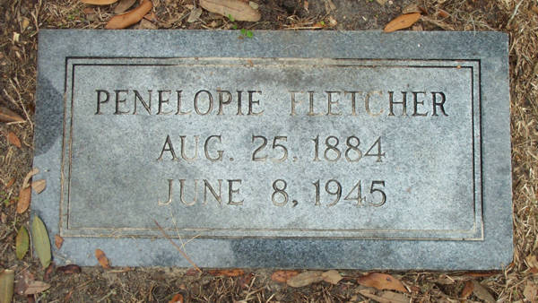 Penelopie Fletcher Gravestone Photo