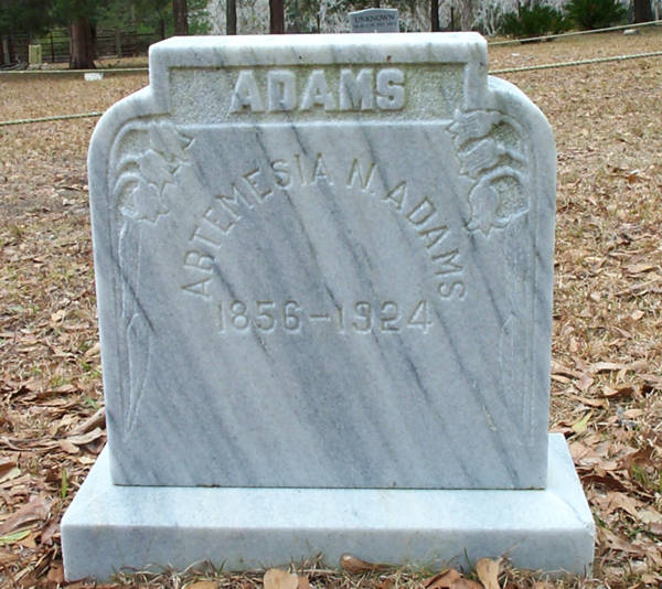 Artemesia N. Adams Gravestone Photo