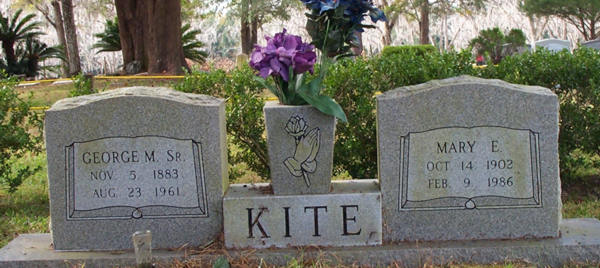 George M. & Mary E. Kite Gravestone Photo