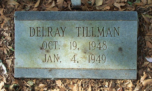 Delray Tillman Gravestone Photo