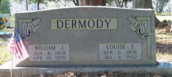 William J. & Louise T. Dermody Gravestone Photo