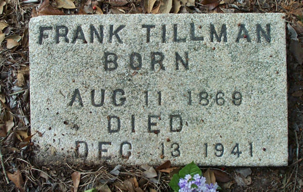 Frank Tillman Gravestone Photo