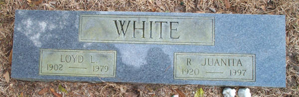 Loyd L. & R. Juanita White Gravestone Photo