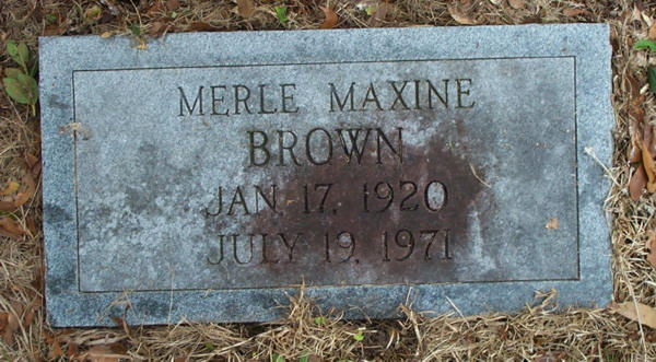 Merle Maxine Brown Gravestone Photo