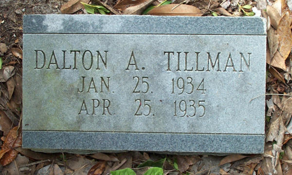 Dalton A. Tillman Gravestone Photo
