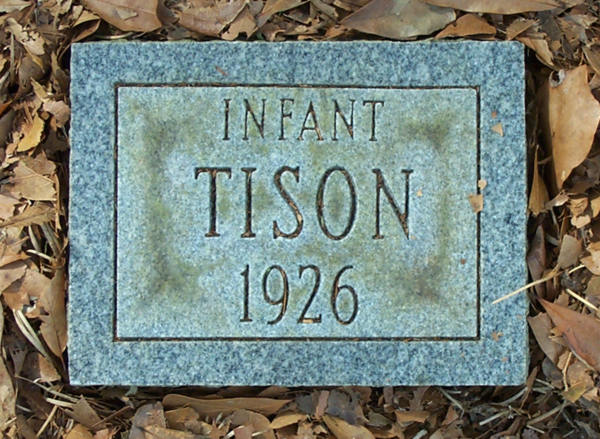 (Infant) Tison Gravestone Photo