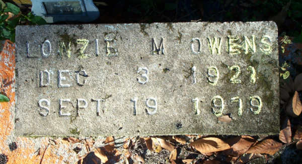 Lonzie M. Owens Gravestone Photo