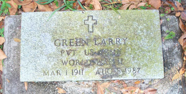 Green Larry Gravestone Photo