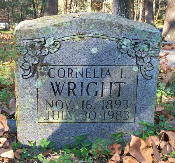 Cornelia L. Wright Gravestone Photo