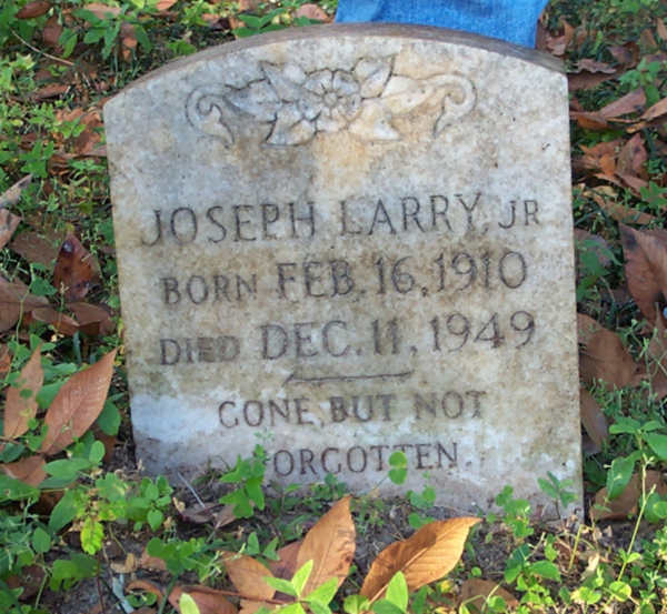Joseph Larry Gravestone Photo