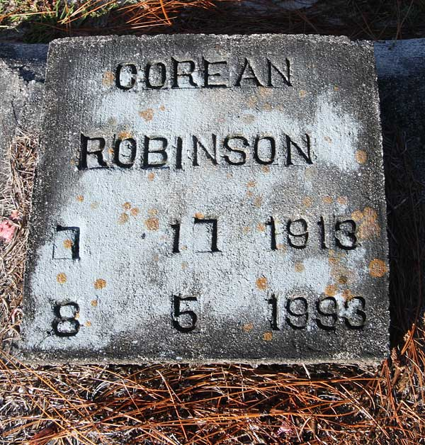 Corean Robinson Gravestone Photo