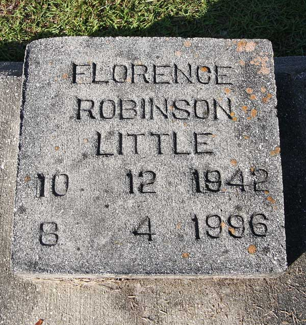 Florence Robinson Little Gravestone Photo