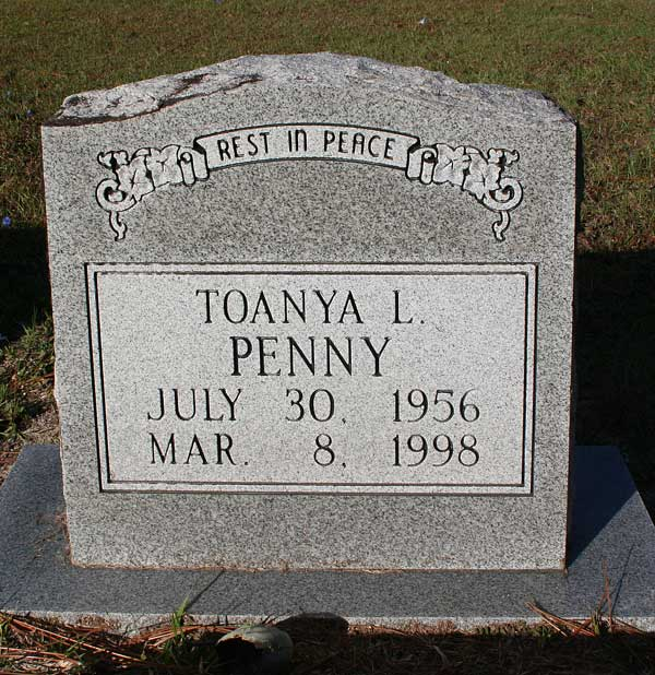 Toanya L. Penny Gravestone Photo