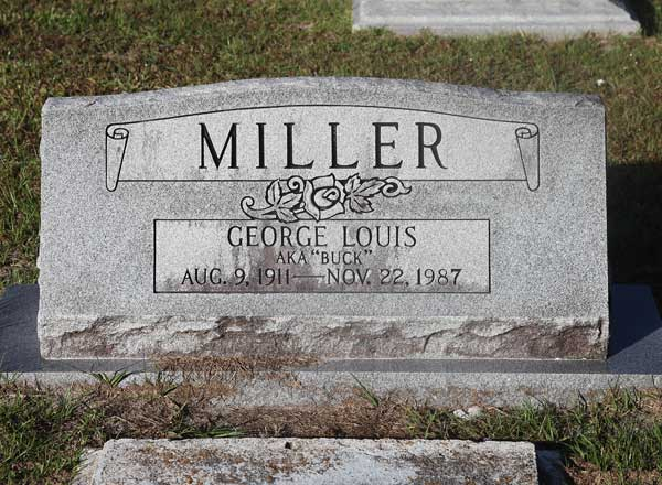 George Louis Miller Gravestone Photo