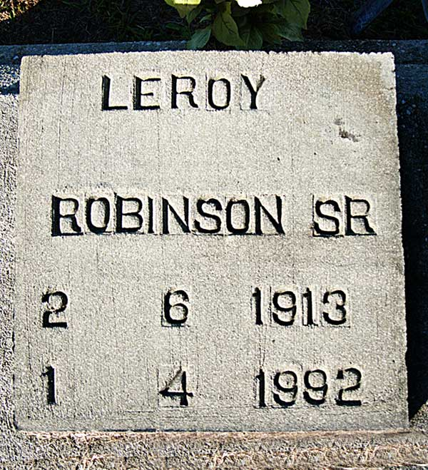 Leroy Robinson Gravestone Photo