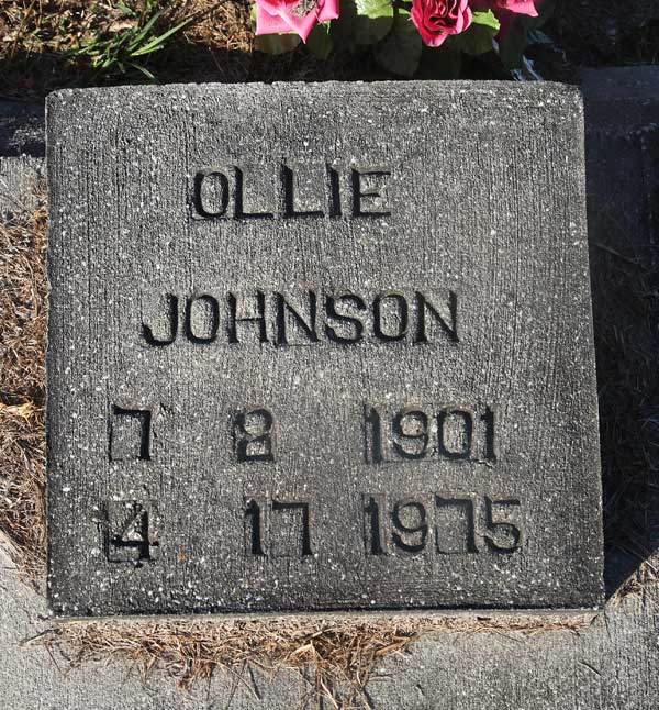 Ollie Johnson Gravestone Photo