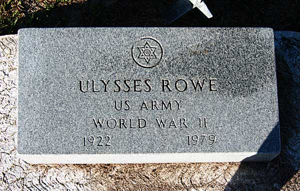Ulysses Rowe Gravestone Photo