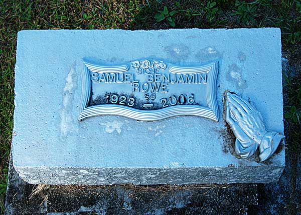 Samuel Benjamin Rowe Gravestone Photo