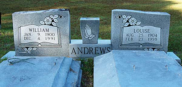 William & Louise Andrews Gravestone Photo