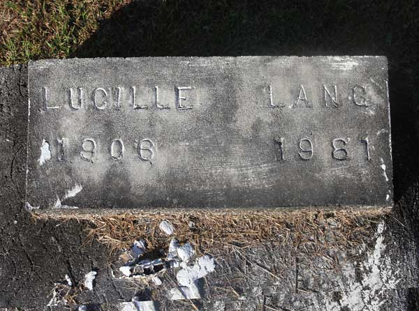Lucille Lang Gravestone Photo