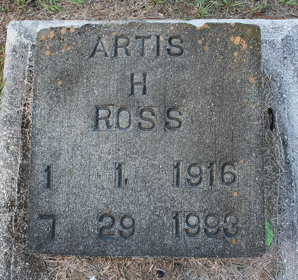 Artis H. Ross Gravestone Photo