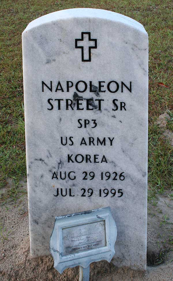 Napolean Street Gravestone Photo
